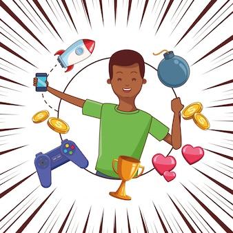Dessins animés de jeux vidéo et de la génération du millénaire