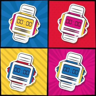 Dessins animés de montres-bracelets