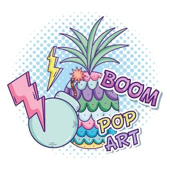 Dessins animés de pop art vector design graphique