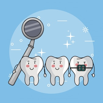 Dessins animés de soins dentaires