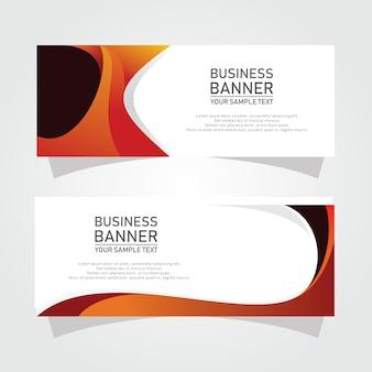 Dessins de bannière de business vector abstraite