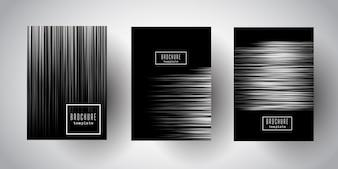 Dessins de brochure à rayures argentées