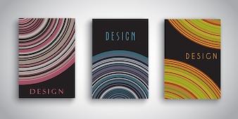 Dessins de brochure abstraite avec des dessins rayés