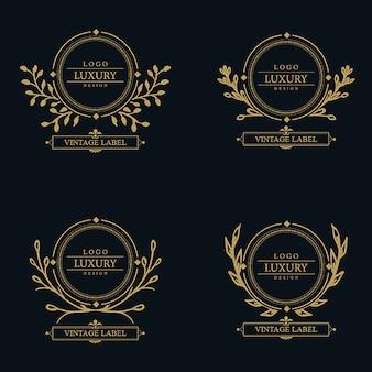 Dessins de Logo de luxe étonnant de vecteur