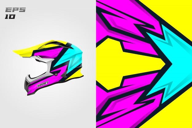 Dessins de décalcomanie de casque vectoriels dessins de livrée