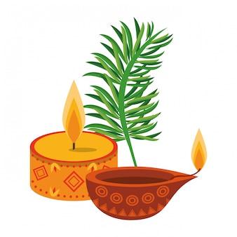 Dessins de dessins animés emblèmes ugadi indien