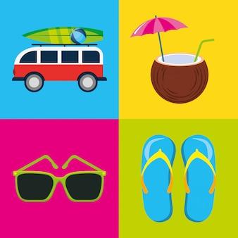 Dessins d'été et de plage