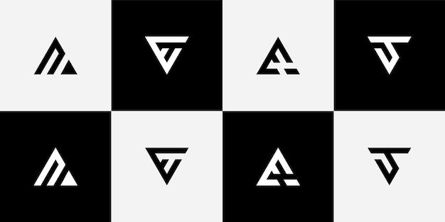 Dessins de logo triangle monogramme