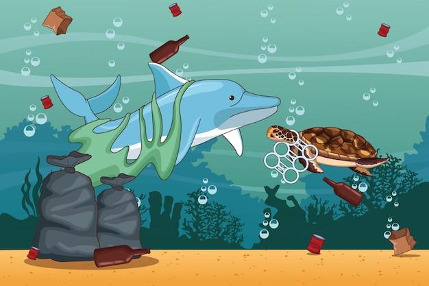 Dessins de nettoyage de la mer