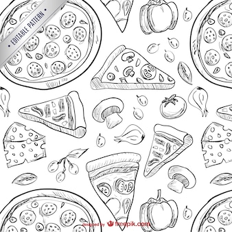 Dessins de pizza modèle