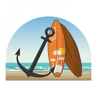 Dessins de plage d'été