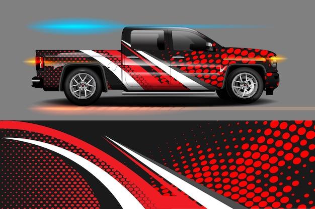 Dessins de rayures abstraites graphiques pour la marque et la voiture de livrée de dérive