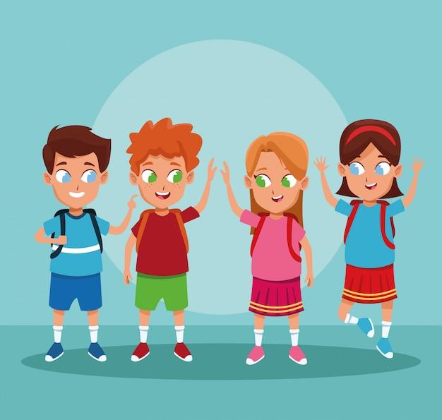Dessins scolaires et filles
