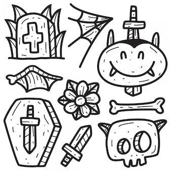 Dessins de tatouage doodle dessinés à la main