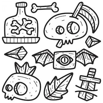 Dessins de tatouage doodle dessinés à la main
