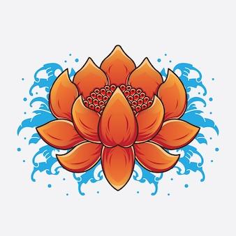 Dessins de tatouage de lotus traditionnels