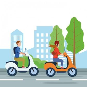 Dessins de transports urbains et de mobilité