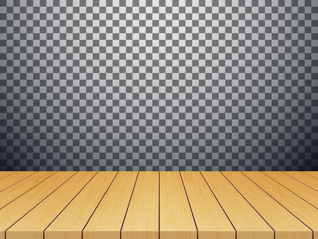 Dessus de table en bois isolé