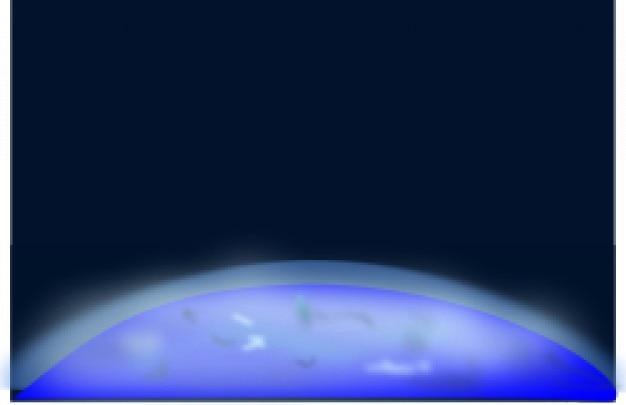 Dessus de la terre dans l'espace