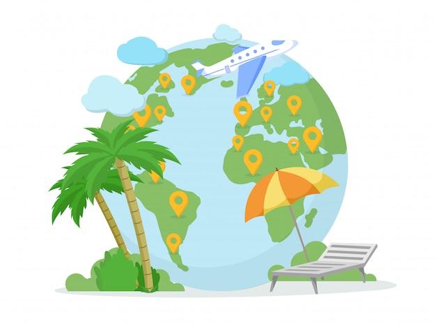 Destination de voyage, emplacement