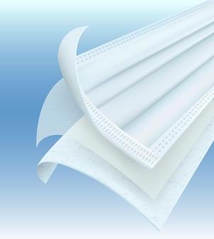 Détails des masques antivirus 3 plis empêchent les germes bactéries les odeurs et la poussière