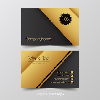 Détails de modèle de carte de visite d'or