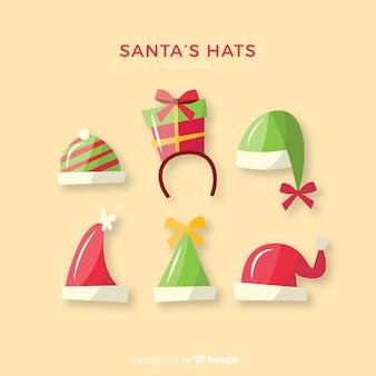 Détails pack de chapeaux de père noël