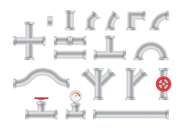 Détails tuyaux différents types de collection de construction de vannes à gaz pour l'industrie des tubes d'eau.