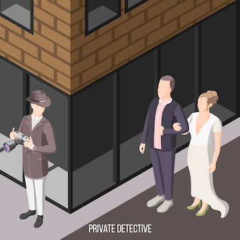 Détective privé en attente dans la rue