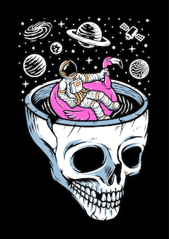 Détendez-vous dans l'illustration de l'espace