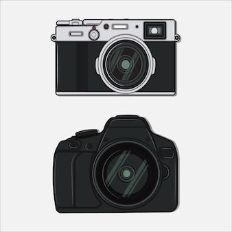 Deux appareils photo de types différents sont utilisés pour prendre des photos