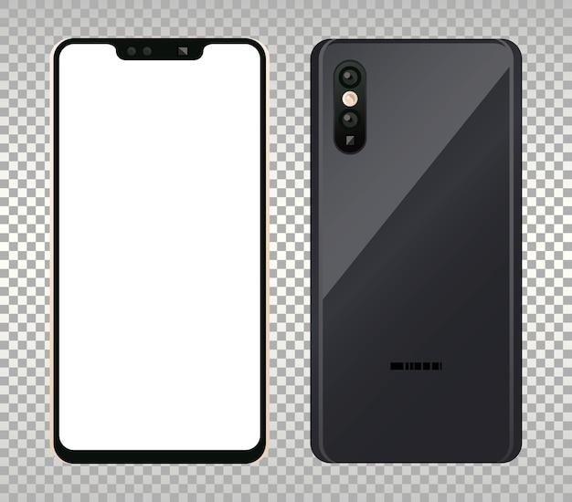 Deux appareils smartphones maquette.