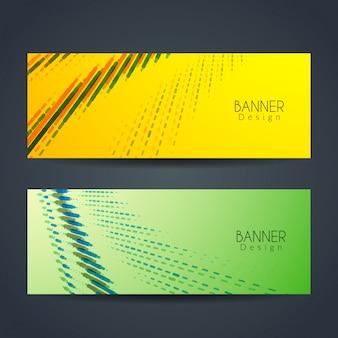 Deux bannières modernes abstarct colorées