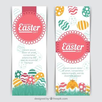 Deux bannières de pâques créatives