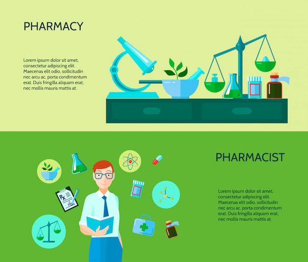 Deux bannières de pharmacie