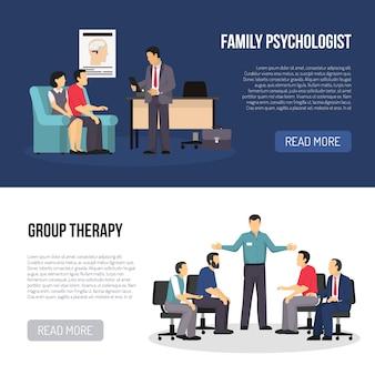 Deux bannières de psychologue