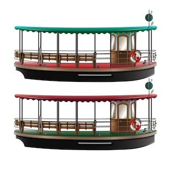 Deux bateaux-bus de style rétro
