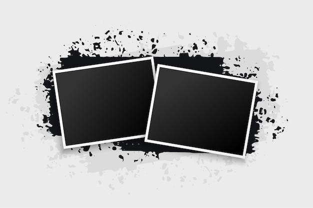 Deux cadres photo de style grunge