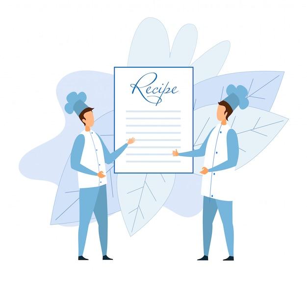 Deux chefs sans visage le chef discute de la recette