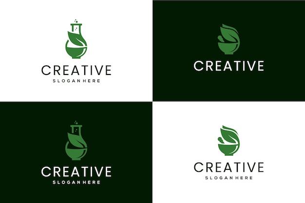 Deux concept pour la création de logo de pharmacie