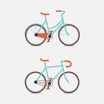 Deux conception de vélo de couleur
