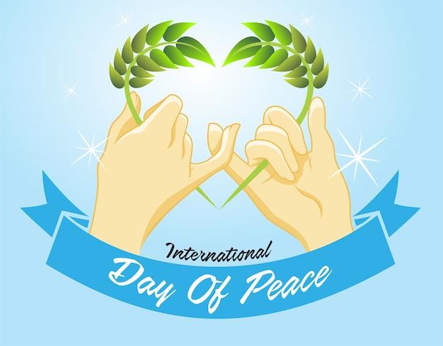 Deux doigts font un symbole de paix
