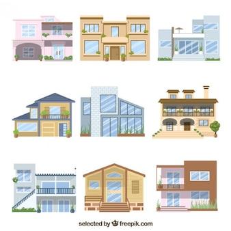 Deux étages maison ensemble