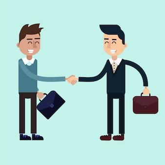 Deux hommes d'affaires sur les négociations