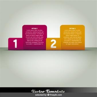 Deux infographie carrés arrondis