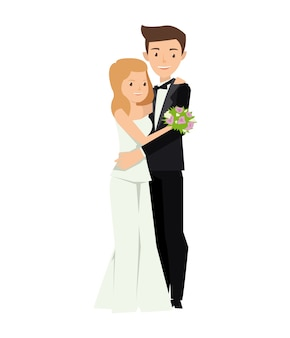 Deux jeunes mariés