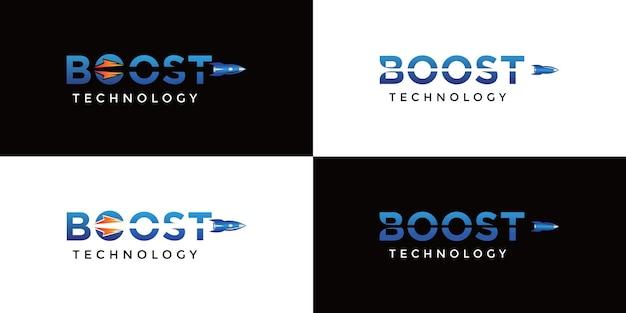 Deux logos de technologie boost