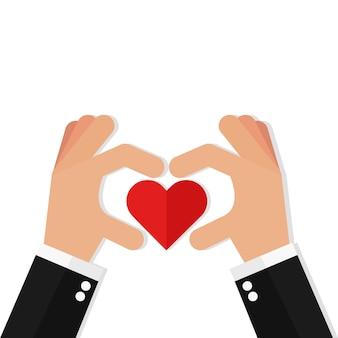 Deux mains faisant signe de coeur