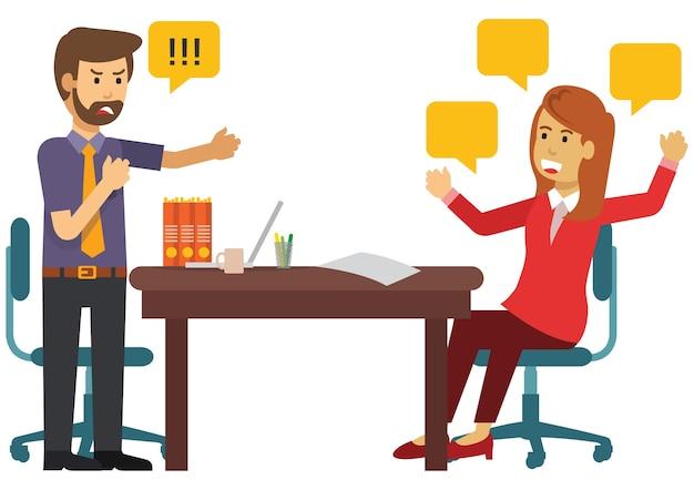 Deux personnes discutent des affaires