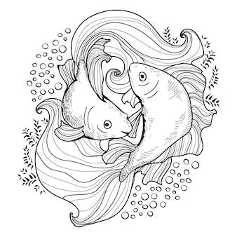 Deux poissons d'or